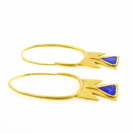 Enamel cross earrings
