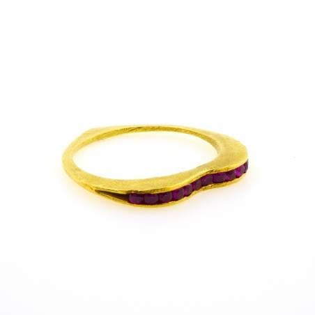 Rubies heart ring
