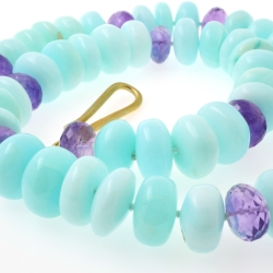 Opal and Amethyst faceted...