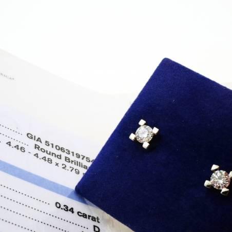 Diamond earrings, GIA,...